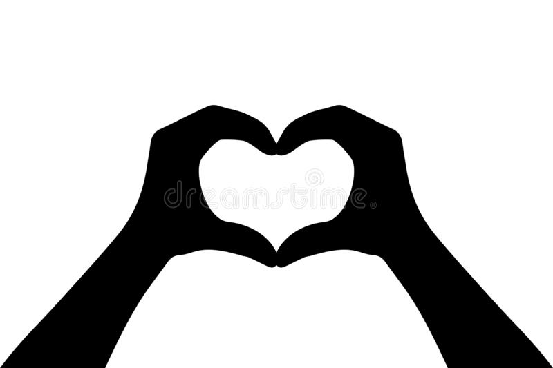 Hands making heart sign. Heart hands symbol – vector. Hands making heart sign. Heart hands symbol – stock vector vector illustration
