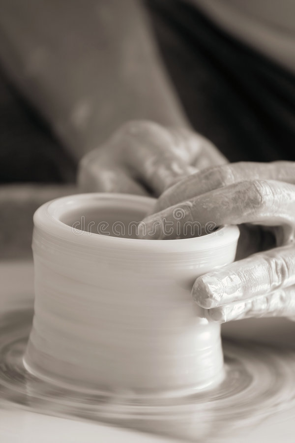 Download Hands Making Pottery Royalty Free Stock Photo - Image: 3354985