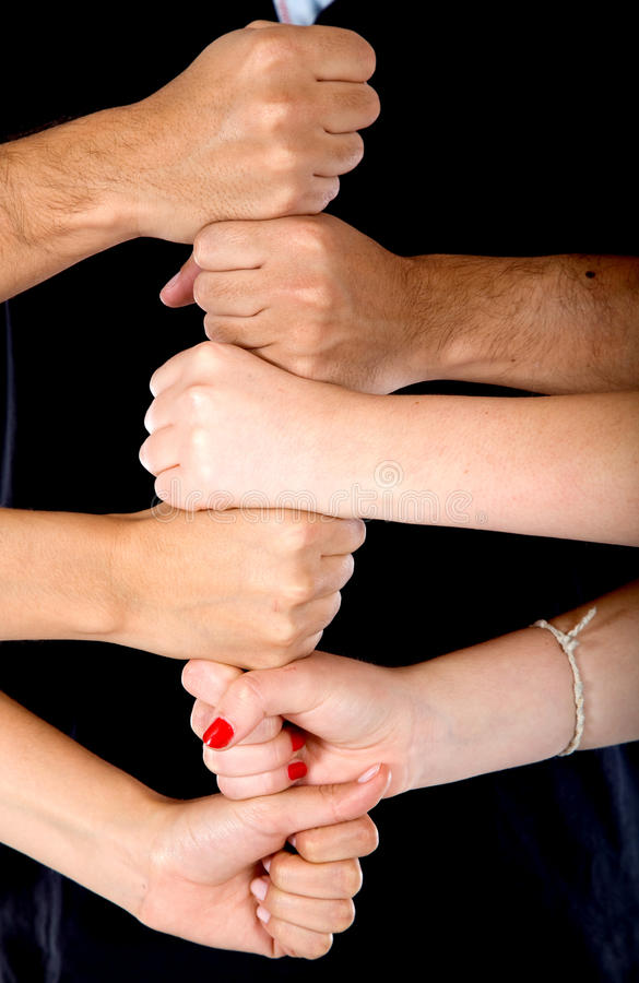 Download Hands making a tower stock photo. Image of together, structure - 13058980