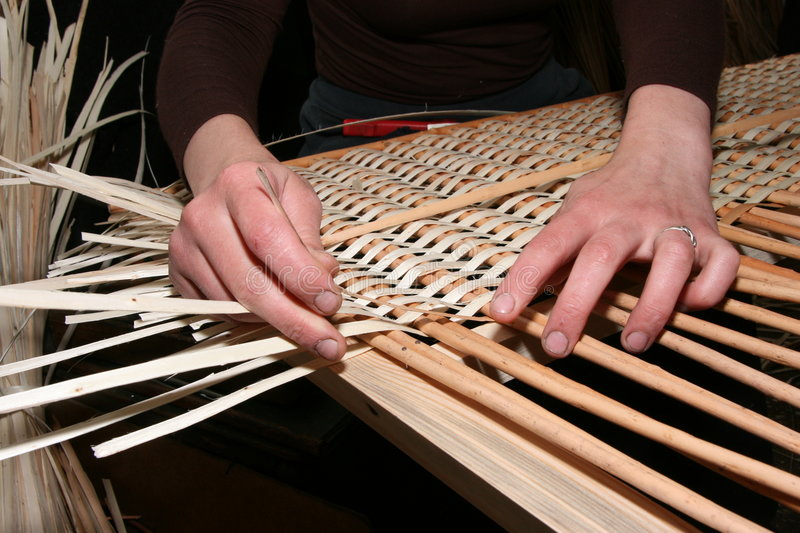 Download Hands Manually Mastering Wicker Fabric 5 Stock Photo - Image of design, decoration: 7159266