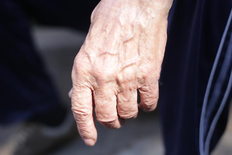 The hands of men who worked for many years. The hands of men who have worked for many years, the hand that has been at work for many years, the hand for royalty free stock images