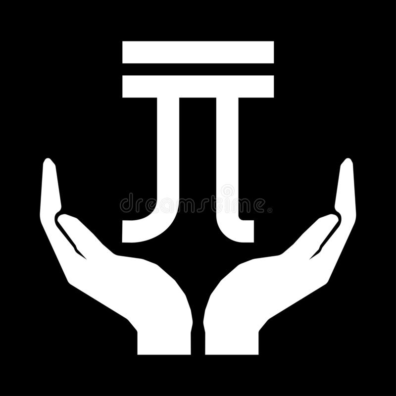 Hands and money currency NEW TAIWAN DOLLAR sign white on black background. Do not squander stock illustration