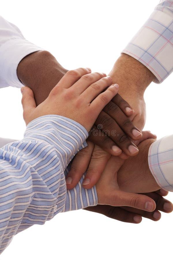 hands multiracial royaltyfria foton