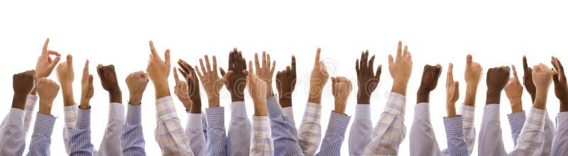 hands multiracial arkivbild