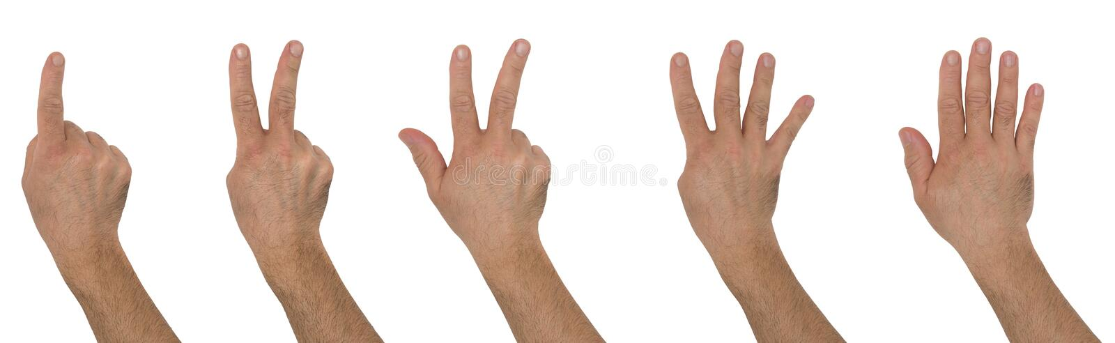 Hands numbers stock image