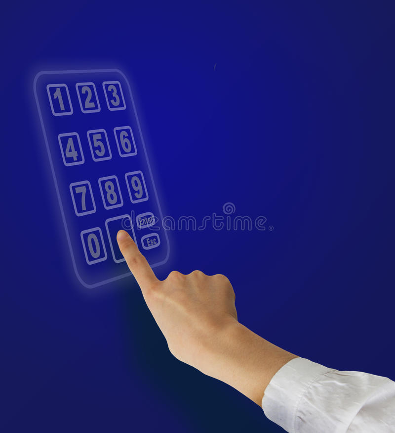 Download Hands and numeric keypad stock photo. Image of numbers - 18588818