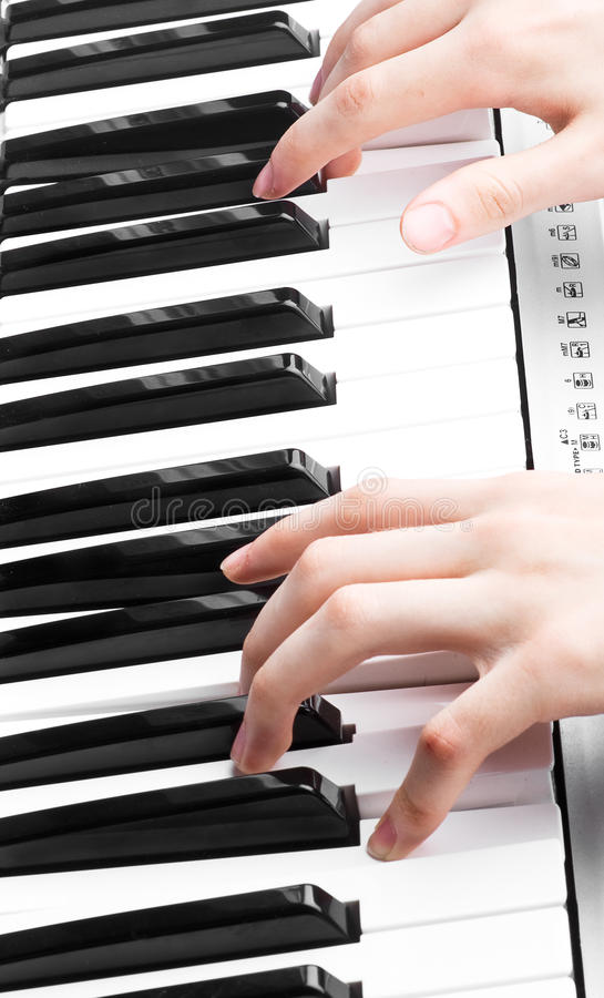 Free Hands Of A Piano Player Royalty Free Stock Images - 16313479