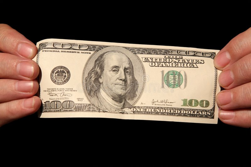 Download Hands And One Hundred Dollars Stock Image - Image: 3659391