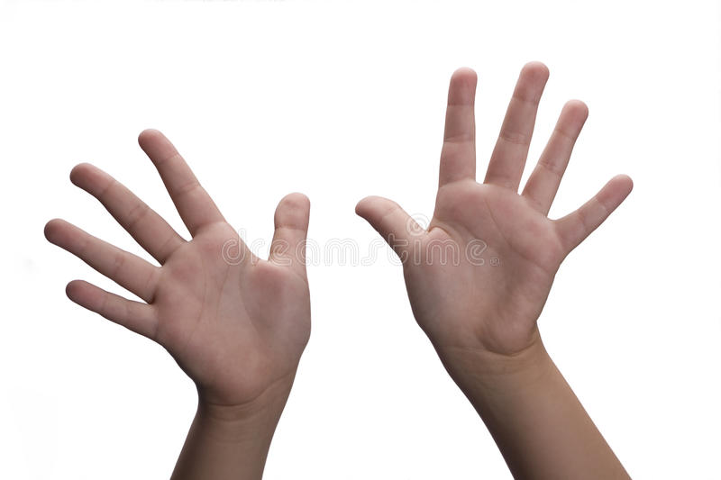 Hands open royalty free stock photo