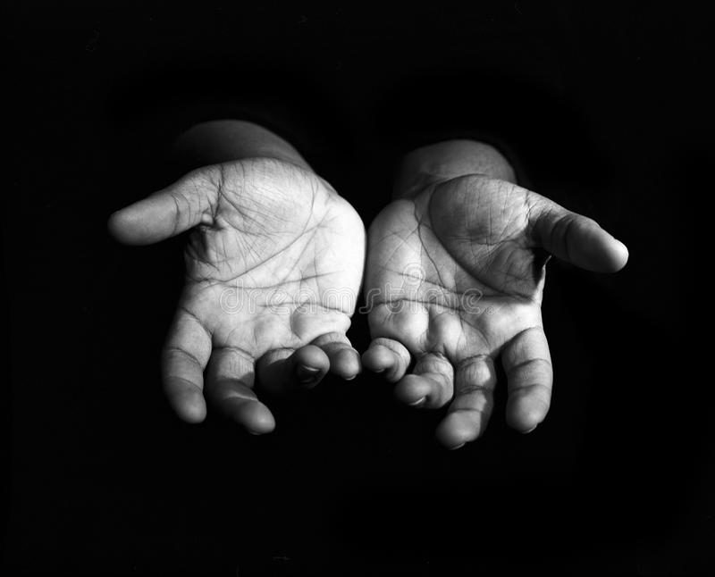 Hands Outreaching royalty free stock photo