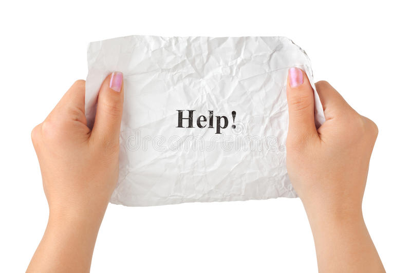 Download Hands And Paper Help Stock Photos - Image: 9995543
