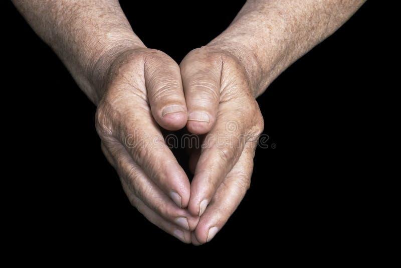 hands pensionären arkivfoto