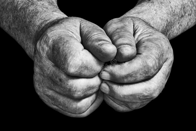 hands pensionären royaltyfria bilder
