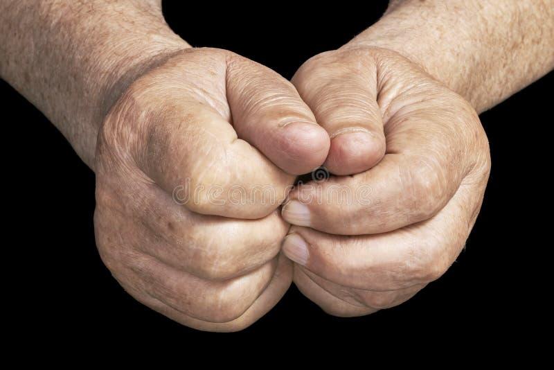 hands pensionären royaltyfri foto