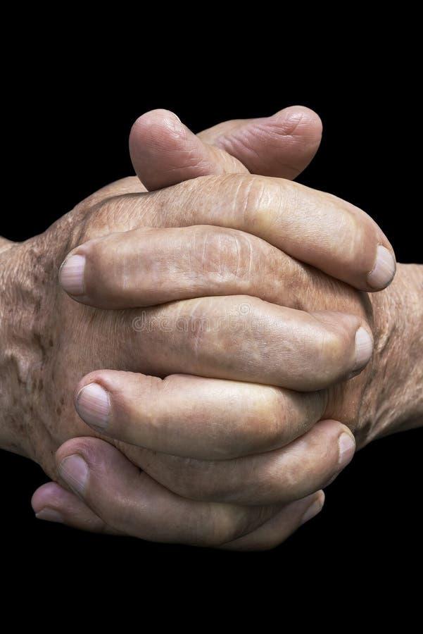 hands pensionären arkivbild