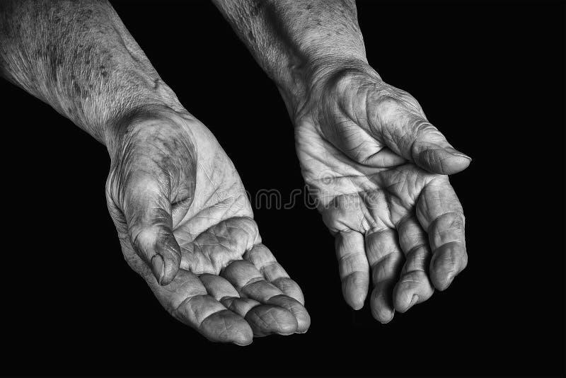 hands pensionären fotografering för bildbyråer