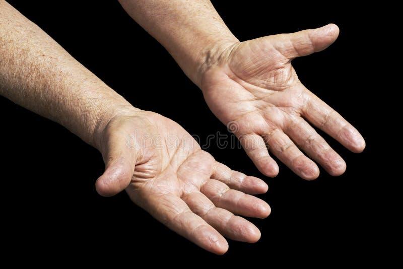 hands pensionären arkivfoton