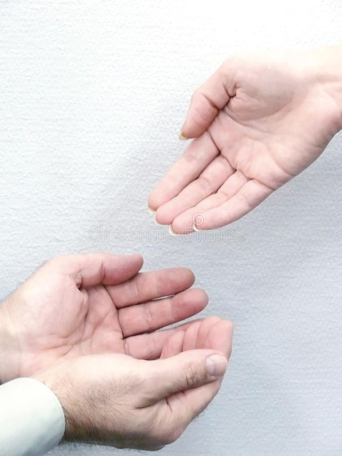 Hands of people. Movement.