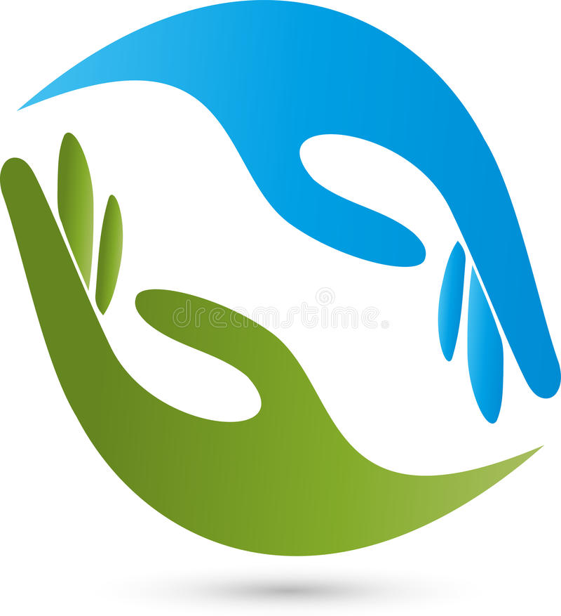Hands Physiotherapy And Naturopathic Logo Stock Vector