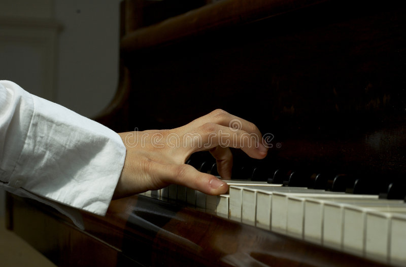 Download Hands On The Piano Royalty Free Stock Photo - Image: 1721825