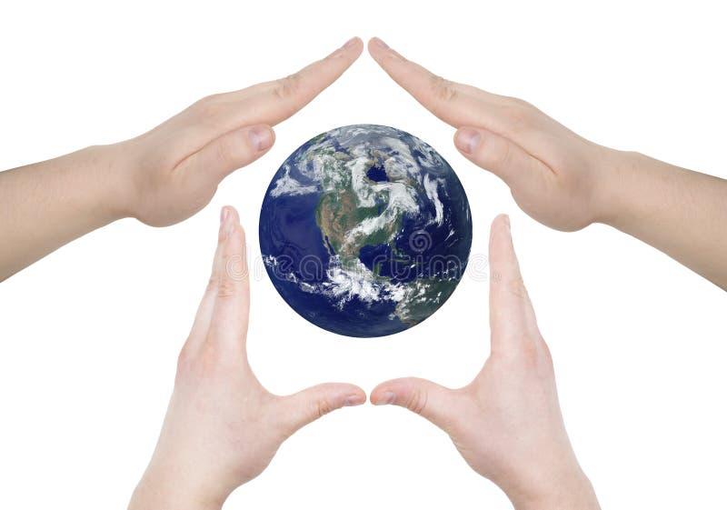 hands planet arkivfoto