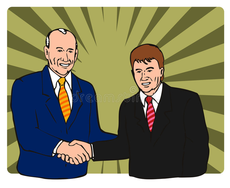 hands politikar att uppröra royaltyfri illustrationer