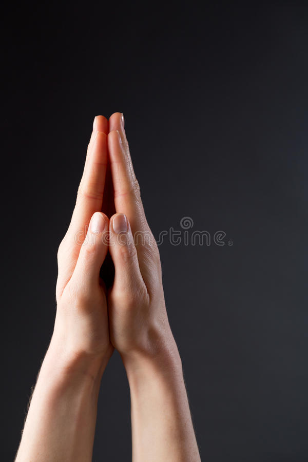 Hands in Position for Prayer royalty free stock photo