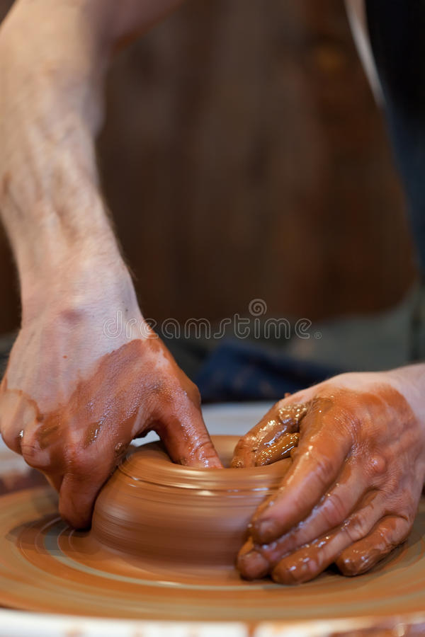 Download Hands of a potte stock image. Image of creation, form - 25794607