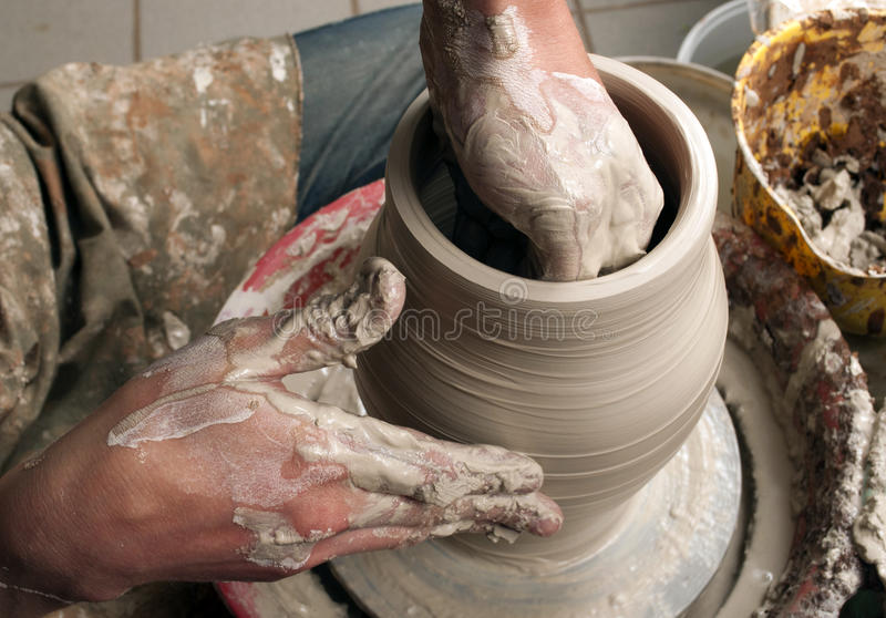 Download Hands of a potter stock image. Image of mold, artisan - 33677895
