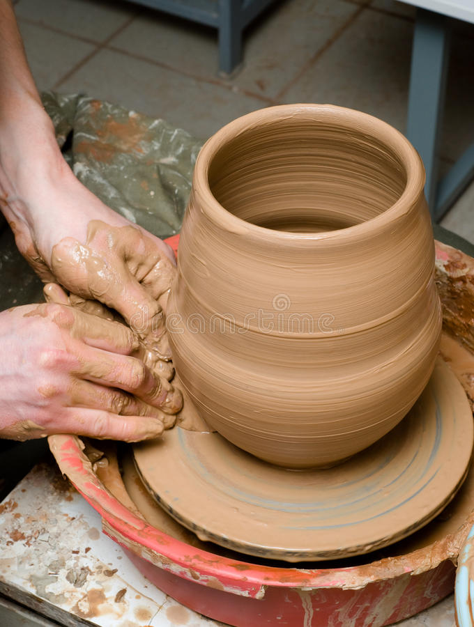 Download Hands of a potter stock image. Image of handmade, shaping - 33695161