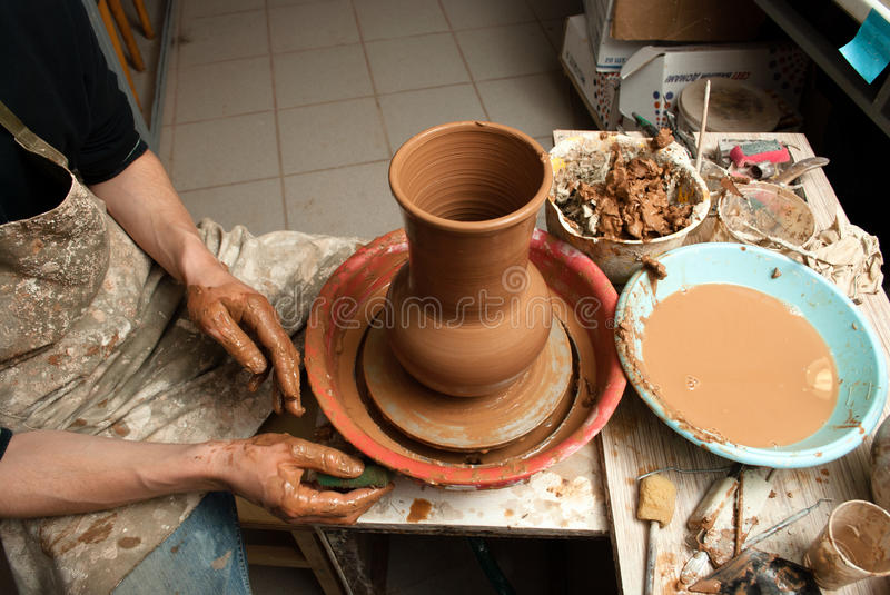Download Hands of a potter stock photo. Image of clay, finger - 33695296
