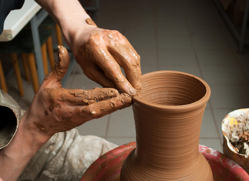 Download Hands of a potter stock photo. Image of handmade, ceramic - 33695606