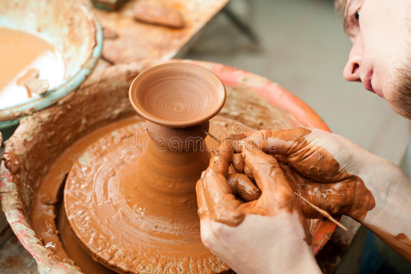 Download Hands of a potter stock image. Image of potter, skill - 33695645