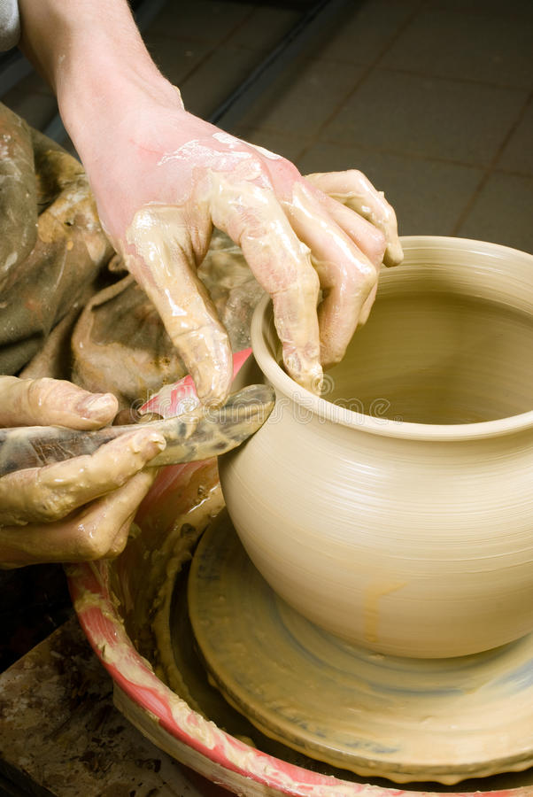Download Hands of a potter stock photo. Image of handmade, sanding - 33695654