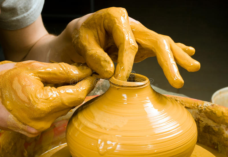 Download Hands Of A Potter Royalty Free Stock Photography - Image: 33695727