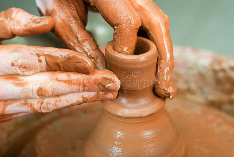 Download Hands Of A Potter Stock Photos - Image: 33695773