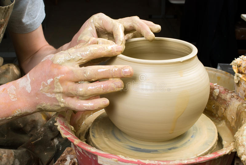 Download Hands of a potter stock photo. Image of creation, shaping - 33696030