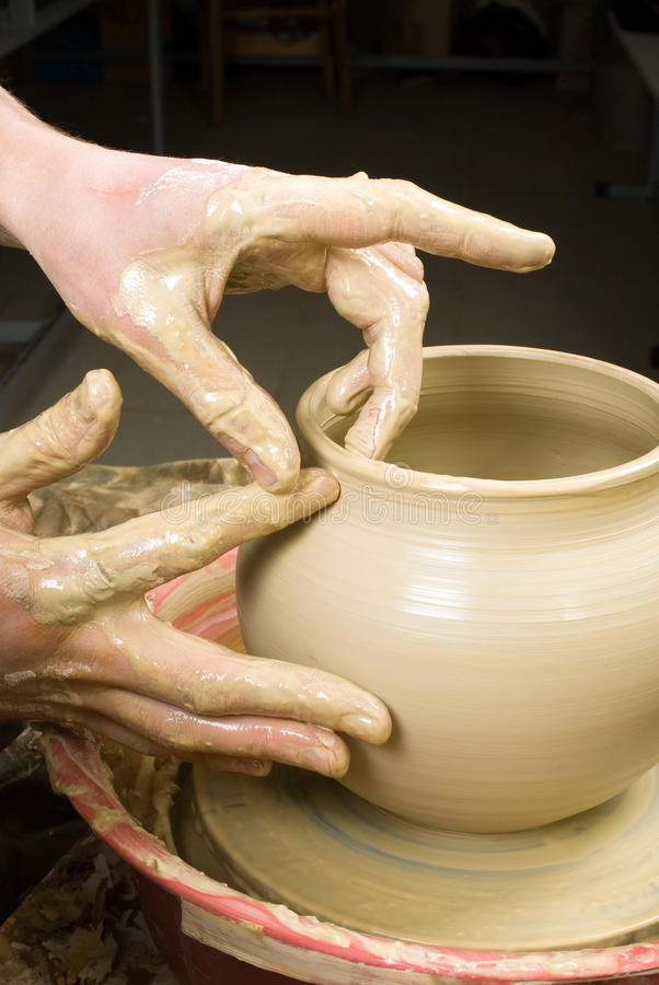 Download Hands of a potter stock image. Image of handmade, finger - 33696059