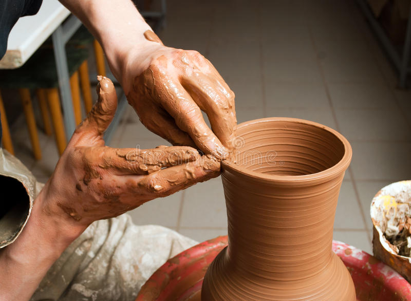 Download Hands Of A Potter Stock Images - Image: 33696114