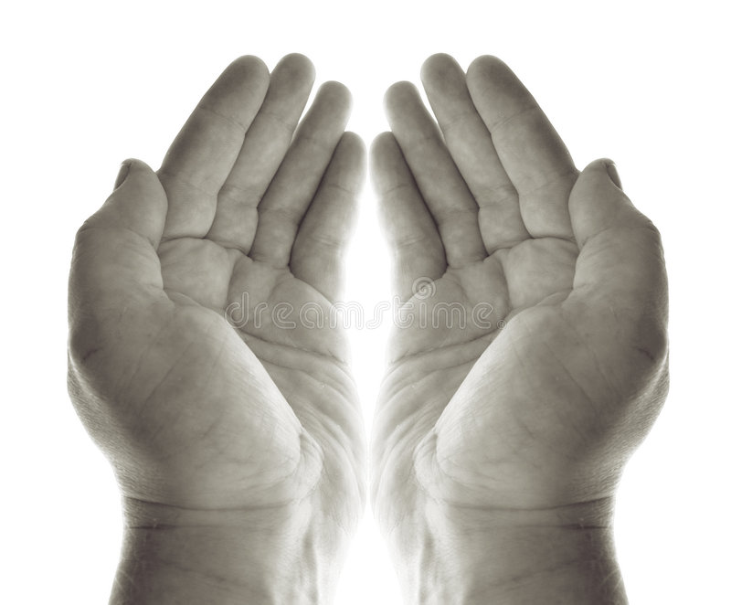 Hands prayer stock photography