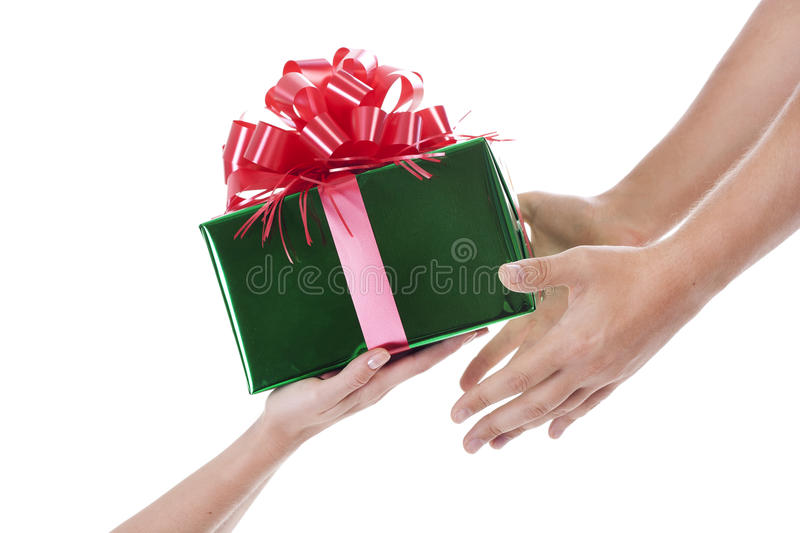 Download Hands with a present stock image. Image of celebration - 21554261