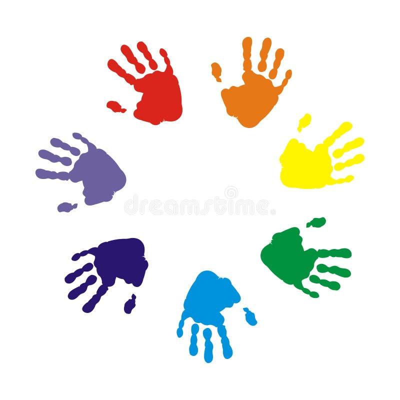 Hands print vector illustration