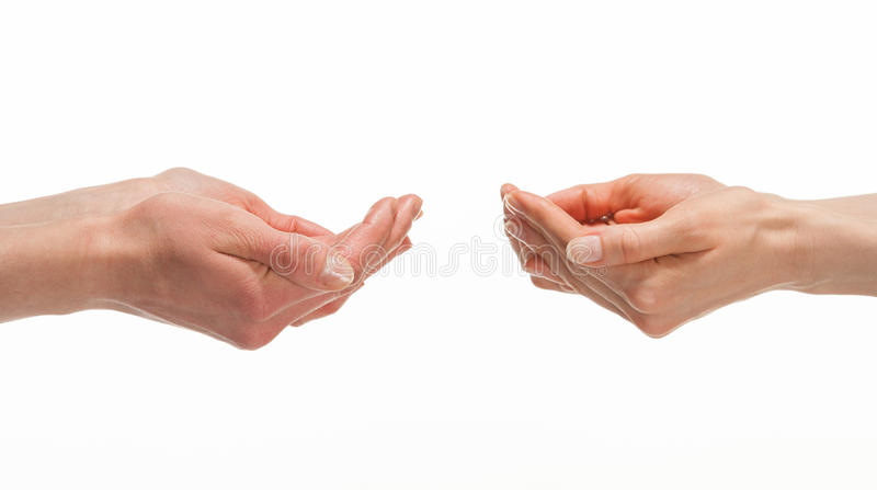 Download Hands Proposing Something To Each Other Stock Photo - Image: 30453884