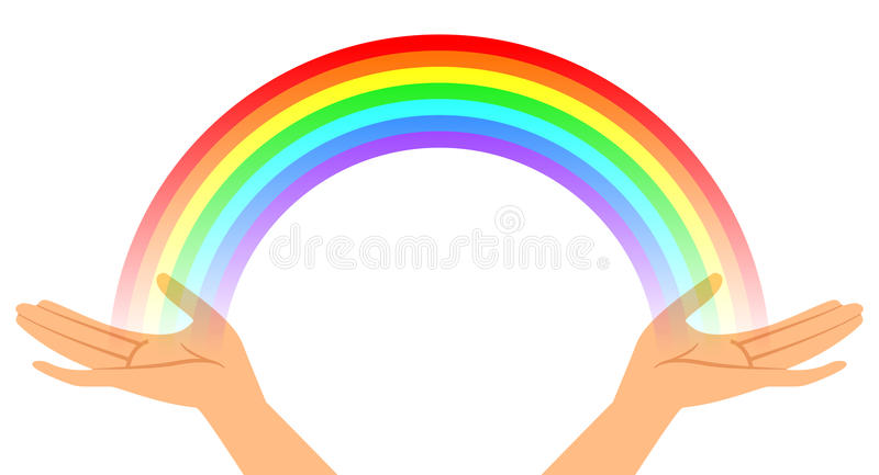 Download Hands with rainbow stock vector. Illustration of multicolor - 25361921