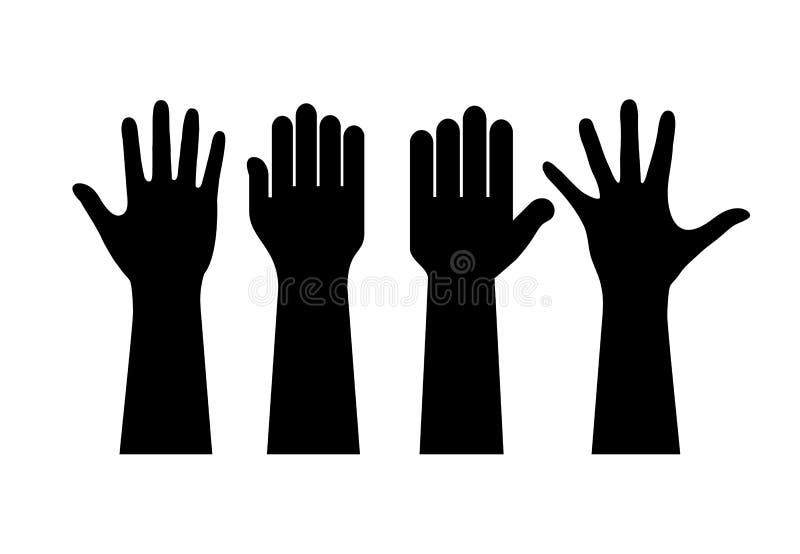 hands raised διανυσματική απεικόνιση