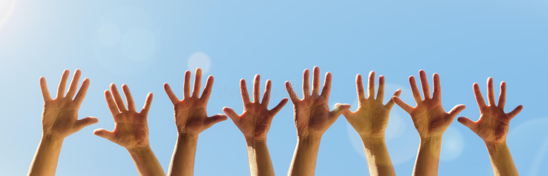 hands raised στοκ εικόνες