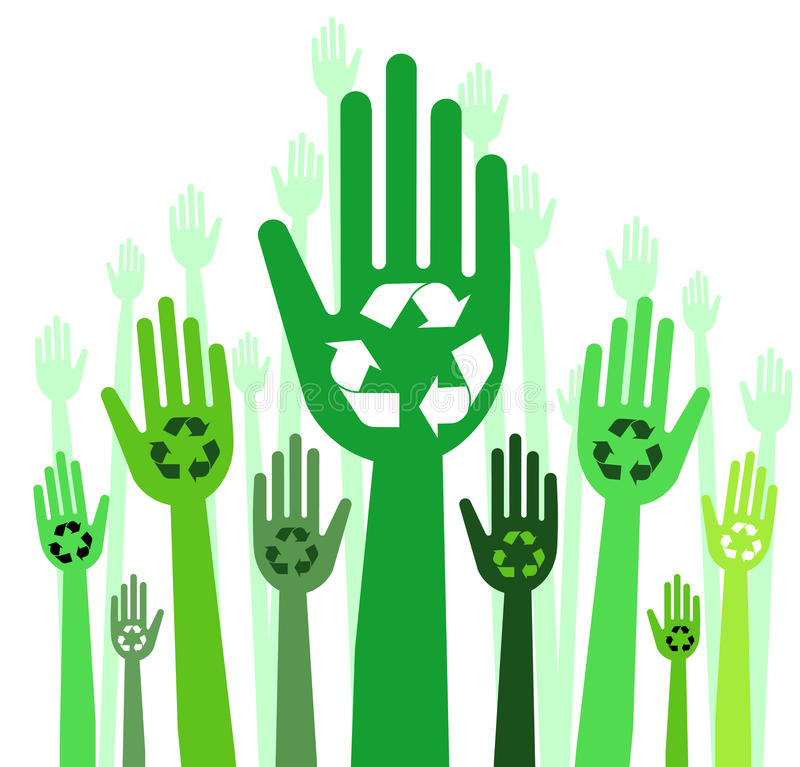 Download Hands with recycle concept stock vector. Image of clean - 12078828