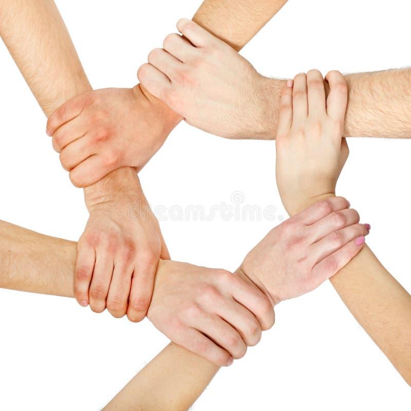 Hands ring teamwork stock photos