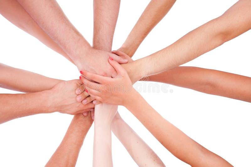Hands ring teamwork royalty free stock image