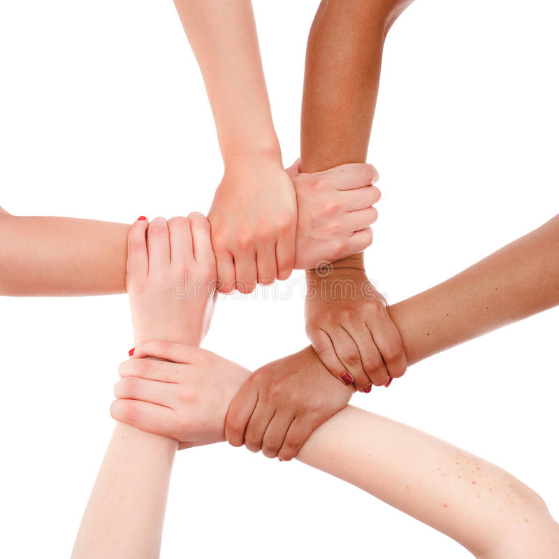 Hands ring teamwork stock images